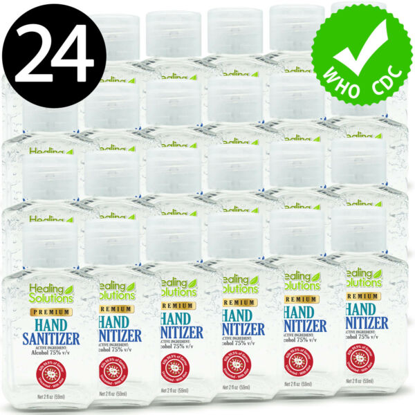 Hand Sanitizer Gel 75% Alcohol Meets WHOCDC Standards Scent-Free 2oz - 24 PACK