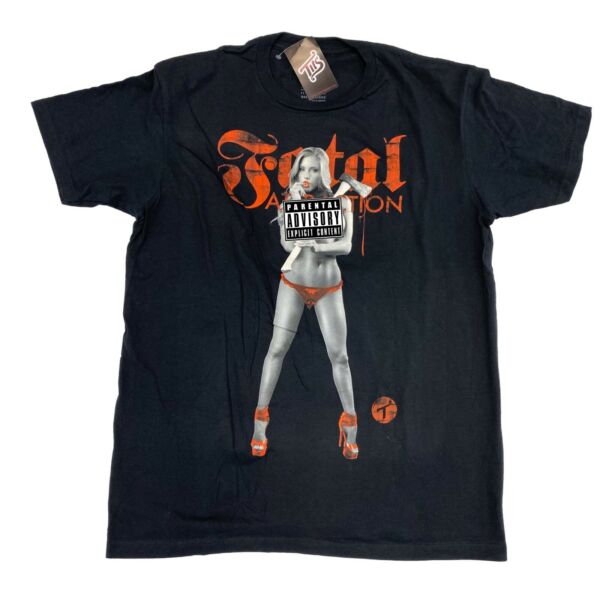 TWO IN THE SHIRT T.I.T.S. Shirt Sexy Girl Fatal Attraction Black Men's Sz L
