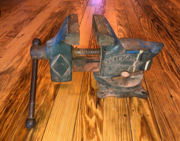 Vintage LITTLESTOWN VISE ANVIL COMBO #400 PIVOTS 27LB Howe Fdry Co USA As Is