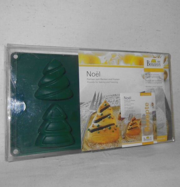 Birkmann Silicone Molds Noel Christmas Tree 6 Non-Stick Baking Freezing Recipes