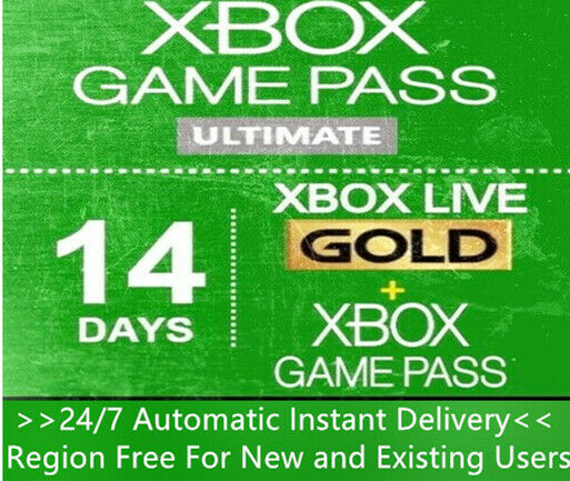 Xbox Live Gold Game Pass Ultimate 14 Day 2 Weeks Trial Code Instant Delivery $3.20