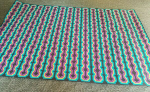Authentic DWR Floor to Heaven couture Baba Cool Rug 6#x27; x 9#x27; Design Within Reach $1000.00