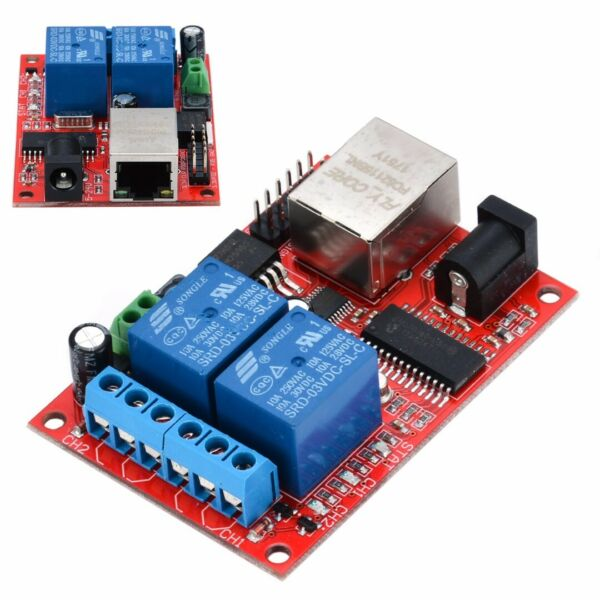 LAN Ethernet 2-Way Relay Board Delay Switch TCPUDP Controller Module Server