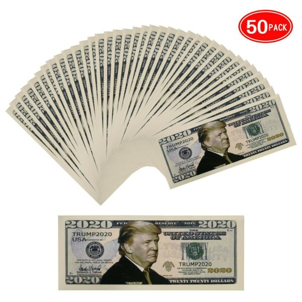 50 Pack Donald Trump 2020 Re Election Presidential Dollar Bill Limited Ed... $12.95