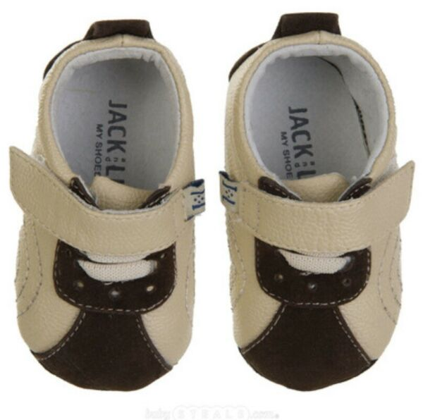 Jack amp; Lily My Mocs 12 18 Month Tan Brown Tommy Leather Bootie Tennis Shoes $25.00