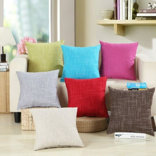 Pillow Decoration Throw Pillowcase Solid Sofa Waist Cushion Cover Home Supplies