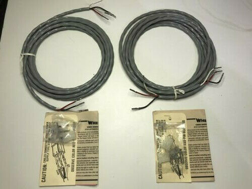 15#x27; Whelen Strobe Cable With Connectors X 2 OEM