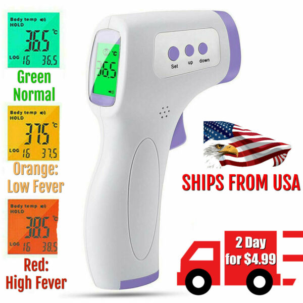 Forehead Thermometer Infared Digital Non-Contact Body Adult Temperature Fever IR