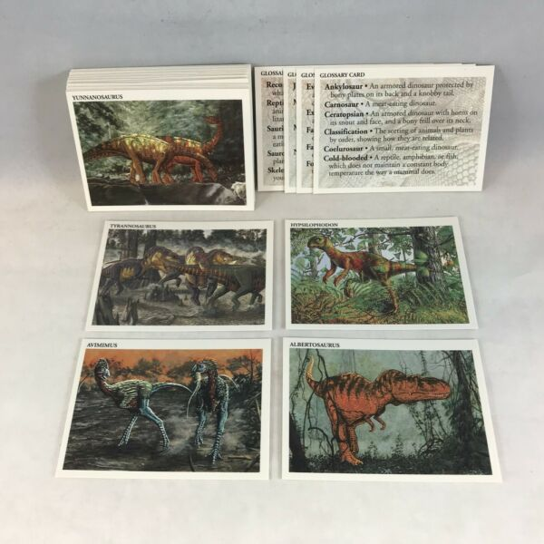 DINOSAURS: THE MESOZOIC ERA Complete Trading Card Set of 50 Fact Cards (464)