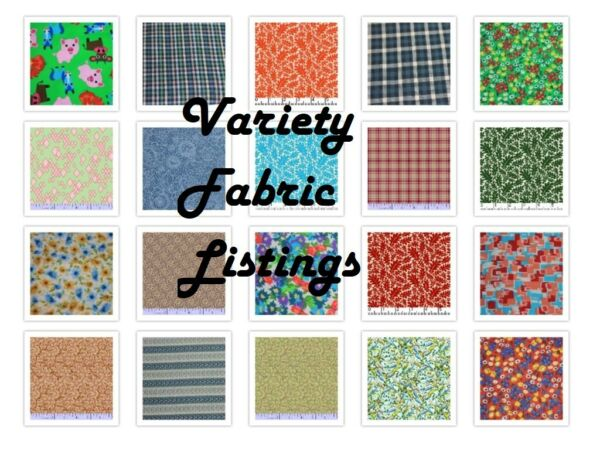 Calico Small Print & Blender Cotton Fabric By the YardVariety Your choice #11