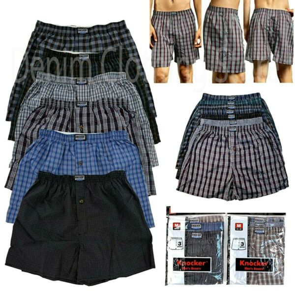 Men Knocker Boxer Trunk 3 6 12 Pack Lot Plaid Shorts Checkered Underwear Briefs $15.45