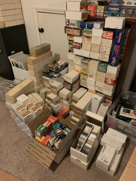 Huge Baseball Card Collection Storage Unit Find Over 3 Million Cards Lot Vintage