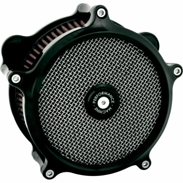 Performance Machine PM Super Gas Stage 1 Kamp;N Air Cleaner Harley Big Twin 9 Black