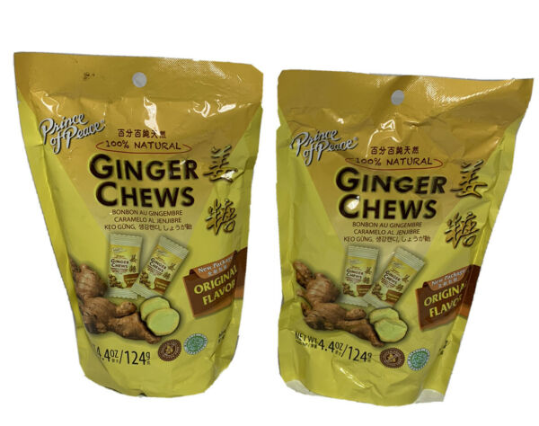 Prince Of Peace 100% Natural Ginger Candy Chews 4 oz BAG (2 Packs) US Seller $8.99