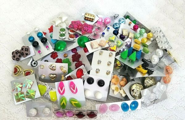 Wholesale Jewelry Lot New Stud Earrings 100 Pairs Free Shipping US Seller