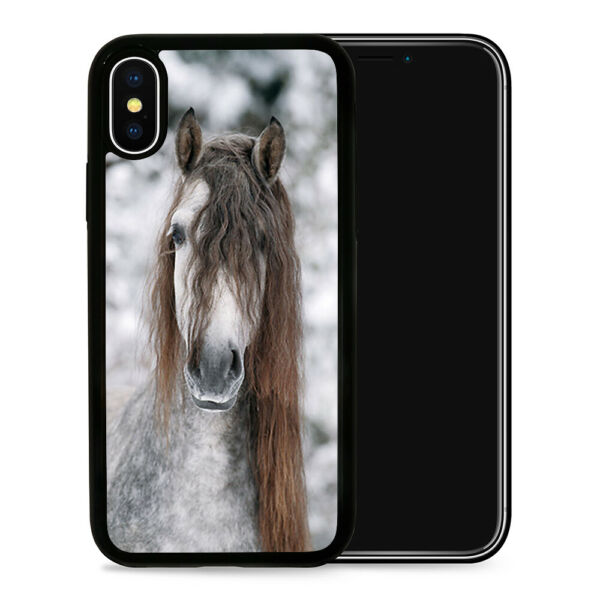 Horse Snow Hair - Protective Phone Case Cover fits iPhone SE 6 7 8 X 11 Pro Max