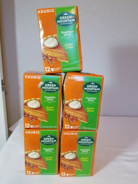 Keurig Green Mountain Coffee Pumpkin Spice K Cup 60 Count 5x12 Exp. 7 2021