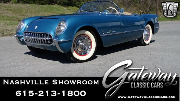 1955 Chevrolet Corvette  Blue 1955 Chevrolet Corvette Convertible 265 CID V8 2 Speed Automatic Available