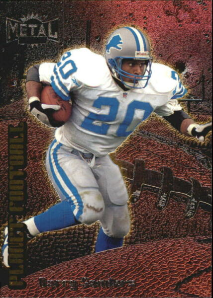 1998 Metal Universe Planet Football Detroit Lions Football Card #1 Barry Sanders