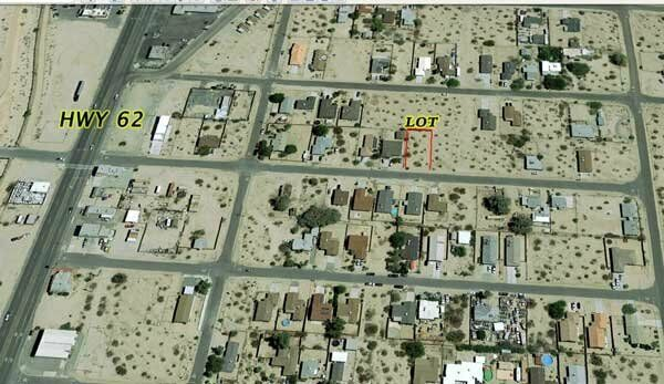 29 PALMS CALIFORNIA-CITY LOT- LIFETIME INCOME-WATER, POWER -MONTHLY $275