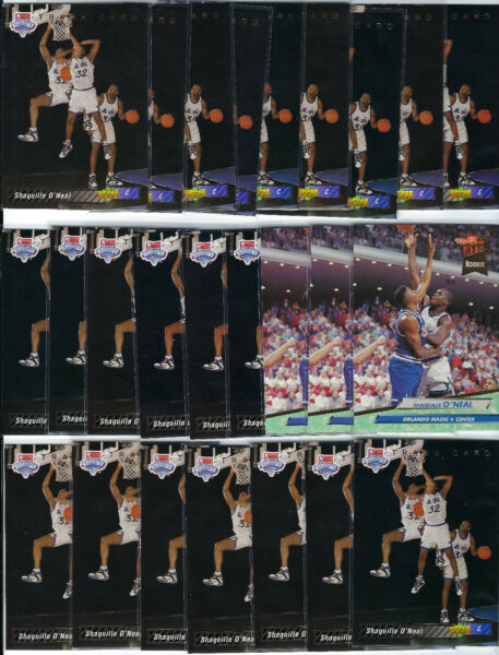 1992-93 Upper Deck Shaquille O'Neal RC #1B Lot of 22 NM + 3 Ultra #328 NM-MT
