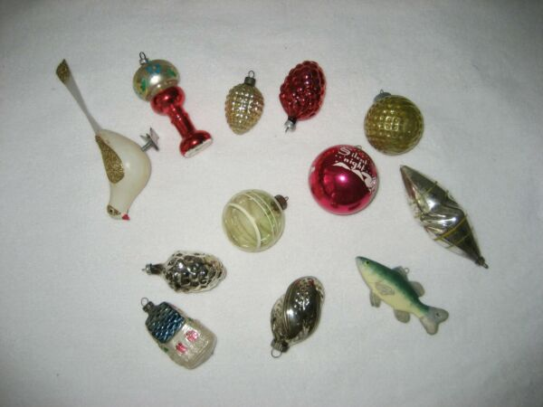 Various vintage Christmas ornaments Shiny Brite and more! Circa 1950s