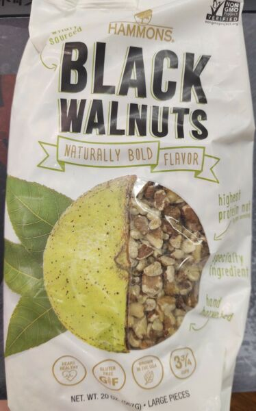 Hammons Black Walnuts Fancy Large Pieces 20 oz Bag FREE SHIPPING $21.99