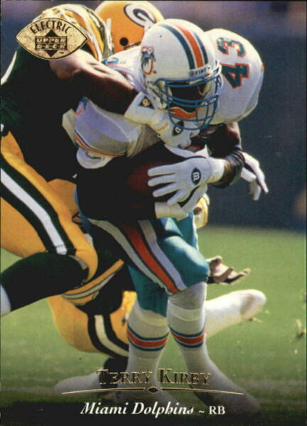 1995 Upper Deck Electric Gold Miami Dolphins Football Card #131 Terry Kirby $1.80