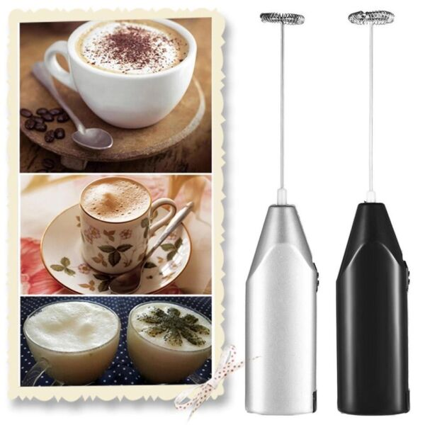 Electric Milk Frother Drink Foamer Whisk Mixer Stirrer Coffee Eggbeater Kitchen $4.79