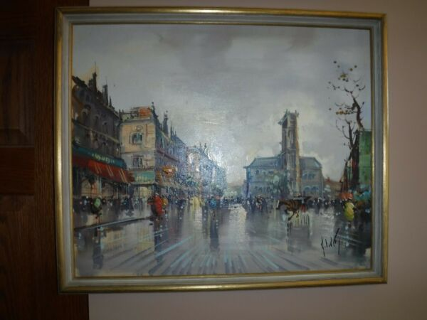 Antonio Devity oil on canvas board listed artist
