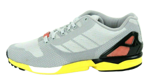 Adidas AF6346 ZX FLUX WEAVE Mens Running  Shoes Leather Gray New