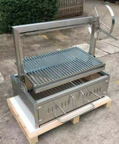 Stainless Steel Outdoor Charcoal BBQ Parrilla Santa Maria Argentine Grill Spit