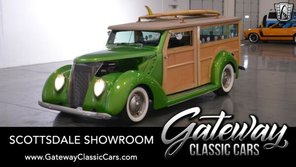 1937 Ford Phantom Woodie Viper Pearl Poison Green 1937 Ford Phantom Wagon 350 CID V8 4 Speed Automatic Av