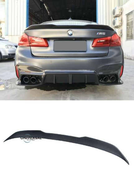 Carbon fiber Rear Trunk Spoiler Lip for 17-20 G30 F90 5 Series Sedan CS STYLE