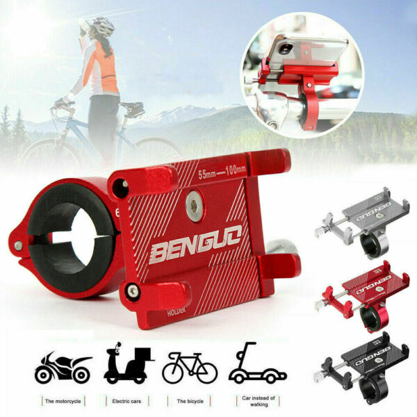 Aluminum Motorcycle Bicycle Bike Mount Holder Handlebar Cell Phone GPS Stand $7.95