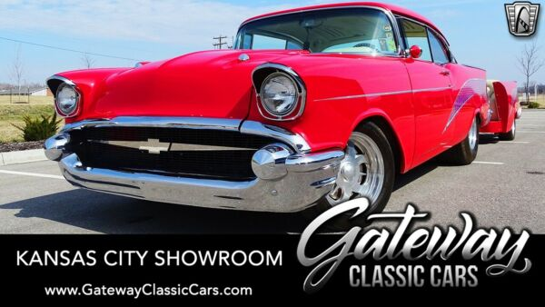 1957 Chevrolet Bel Air150210 Custom Guards Red 1957 Chevrolet Bel Air  502 Borded Out Scabrib Boat Motor TH350 Avail
