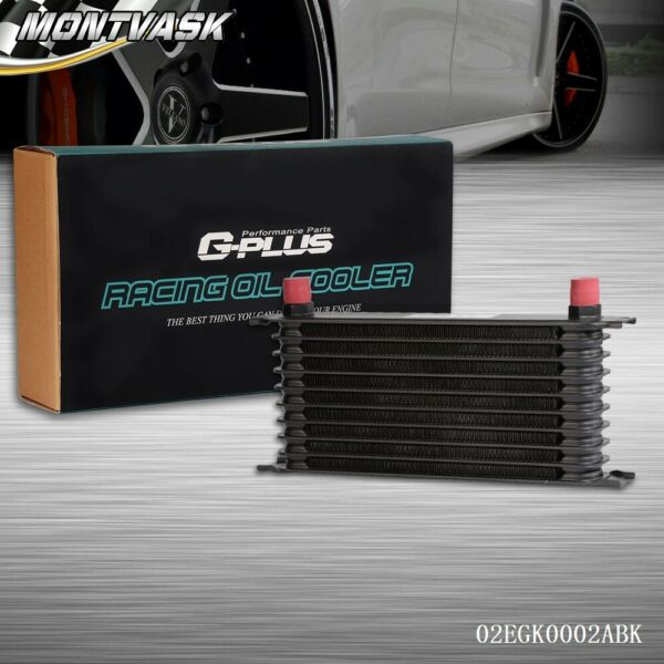 Universal 10 ROW AN-10 Engine Aluminum Transmission Oil Cooler For Japanese Cars
