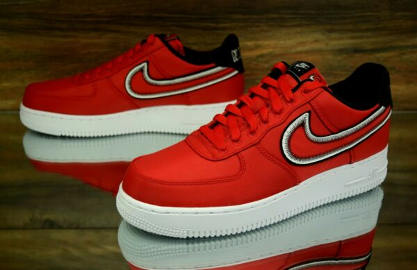 Nike Air Force 1 '07 LV8 Unviersity Red White Black CD0886-600 Men's Shoes NEW
