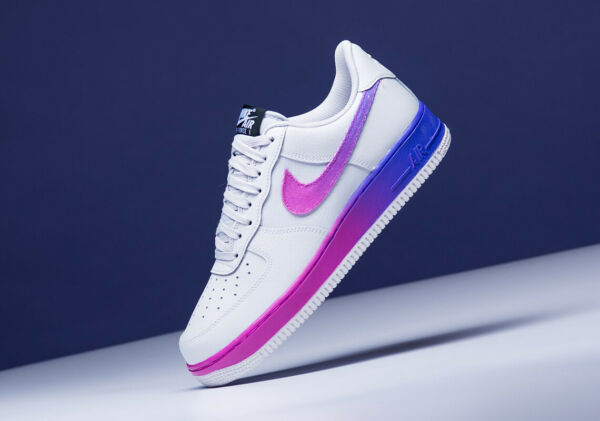 Nike Air Force 1 '07 LV8 Vast Grey Hyper Grape CJ0524-002 Men's Shoes Size 13