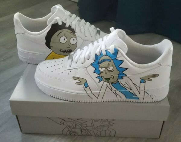 Rick and Morty Custom Air Force One size 10.5          AF1 Custom