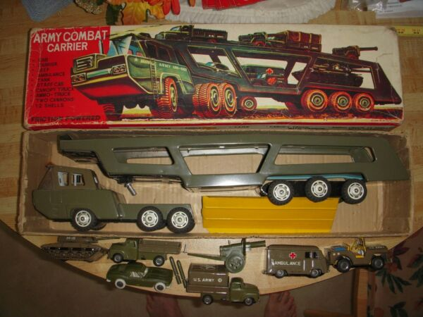 ARMY Combat Carrier Split Window Corvette Battleground Hauler Sears Toy Linemarx $295.00