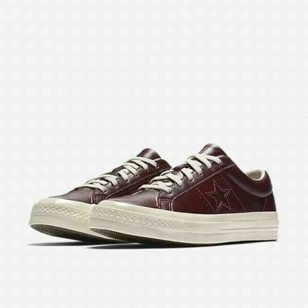 Converse One Star Leather and Tapestry Unisex Sangria Shoe 157803C Size 10.5