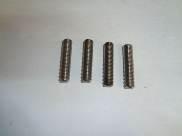 LANCIA ZAGATO Exhaust Studs 9x1.25 Thread 4 Pieces 2.0 FUEL INJECTION ENGINE NEW