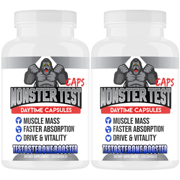 Monster Test Capsules Testosterone Booster w Tribulus All Natural For Men 2 Pack $19.99