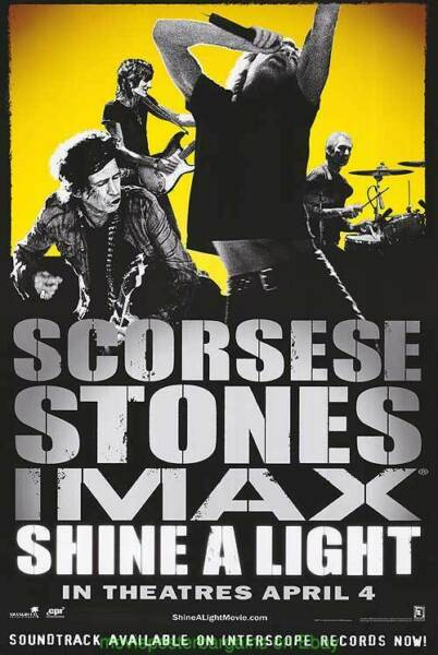 SHINE A LIGHT MOVIE POSTER Original SS 27x40 Yellow IMAX THE ROLLING STONES