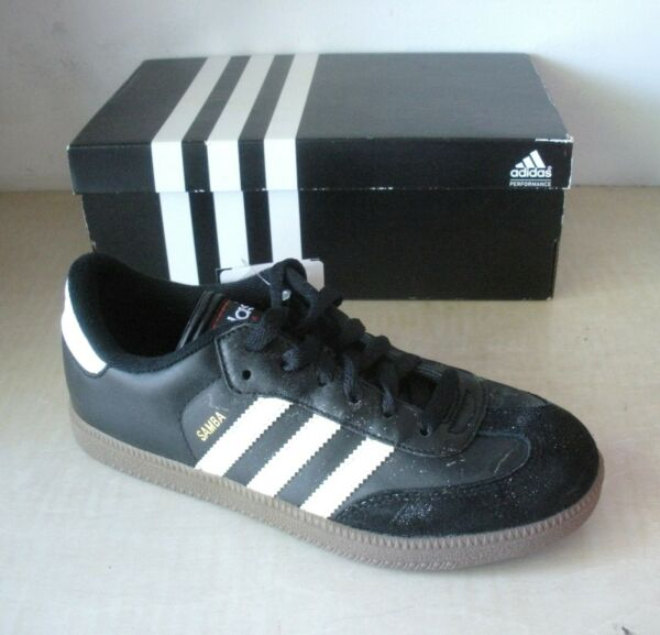 Adidas Mens Samba Classic Indoor Soccer Shoes - Sneakers- 034563- Black / White