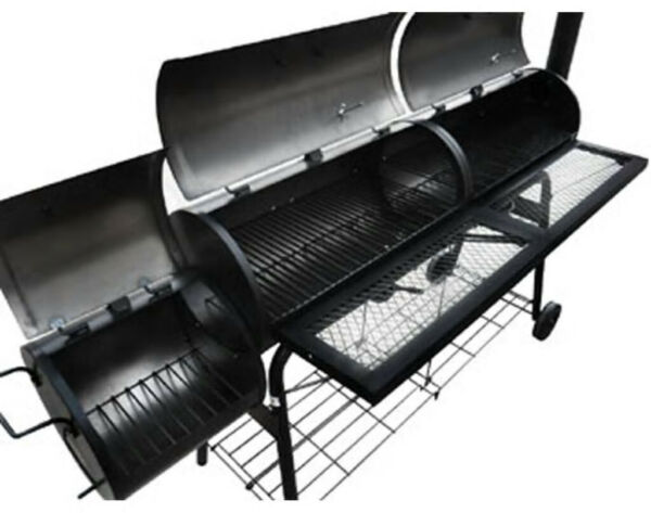 Giant Barbeque Smoker Patio BBQ Barrel Grill Meat Roast Griddle Chimnea Steel
