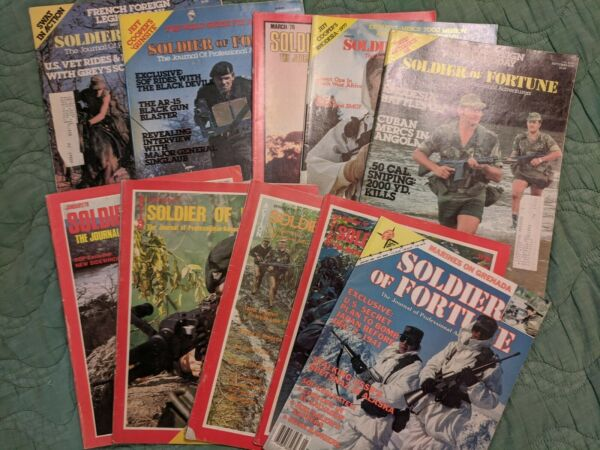 Soldier of Fortune Magazine - Lot of 10 (vintage)