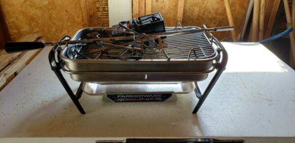 Farberware Stainless Steel Open Hearth Broiler Rotisserie Grill MFG.# 455N