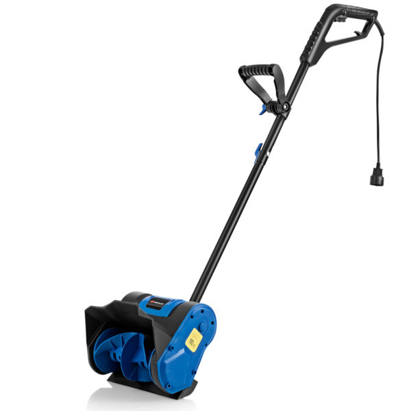 12 Inch 9 Amp Electric Corded Snow Shovel Driveway Yard Snow Thrower Blue